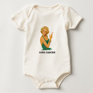 lung cancer girl baby bodysuit