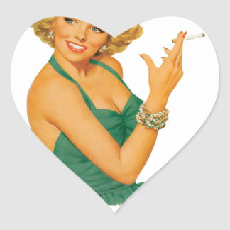 lung cancer girl heart sticker