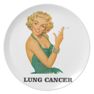 lung cancer girl plate