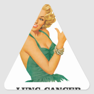 lung cancer girl triangle sticker