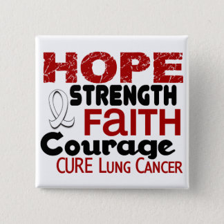 Lung Cancer HOPE 3 2 Inch Square Button