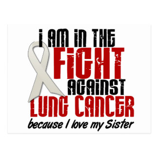 Lung Cancer IN THE FIGHT 1 Sister Postcard