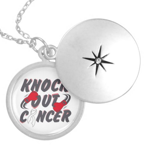 Lung Cancer Knock Out Cancer Necklaces