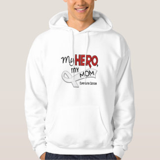 Lung Cancer MY HERO MY MOM 42 Hoodie