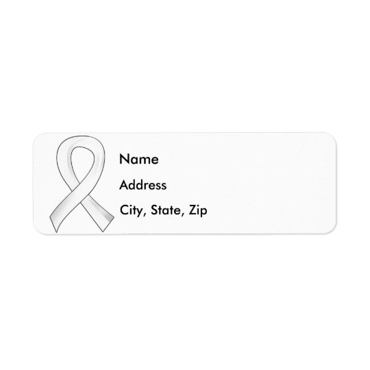 Lung Cancer Pearl Ribbon 3 Return Address Label