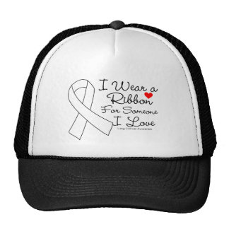 Lung Cancer Ribbon Someone I Love Trucker Hat