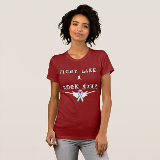 Lung Cancer Rock Star Ladies Jersey T-shirt