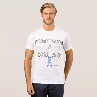 Lung Cancer Rock Star Men's Poly-Cotton T-Shirt