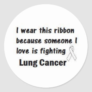 Lung Cancer Round Sticker