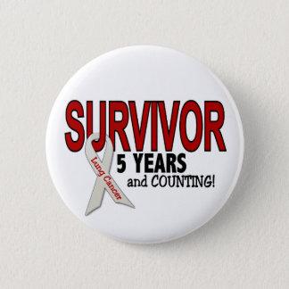Lung Cancer Survivor 5 Years 2 Inch Round Button