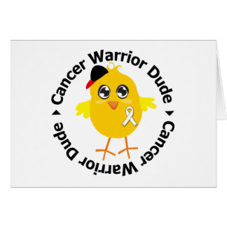 Lung Cancer Warrior Dude Greeting Card