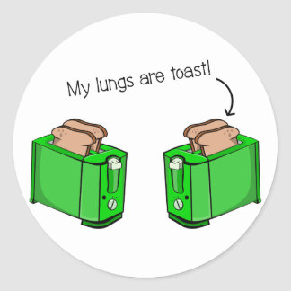 Lung disease cystic fibrosis round sticker