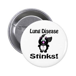 Lung Disease Stinks Skunk Awareness Design 2 Inch Round Button