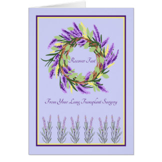Lung Transplant Surgery Card, Get Well in Laventer Card