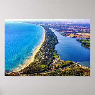 Lungomare e lago di Sabaudia Poster