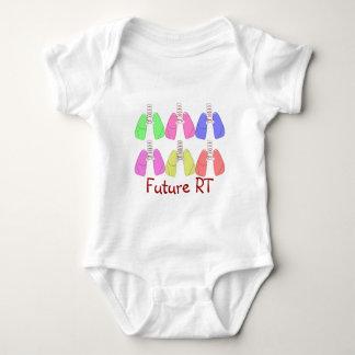 Lungs Multi Colored--Respiratory Therapist Design Baby Bodysuit