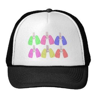 Lungs Multi Colored--Respiratory Therapist Design Trucker Hat