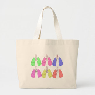 Lungs Multi Colored--Respiratory Therapist Design Jumbo Tote Bag
