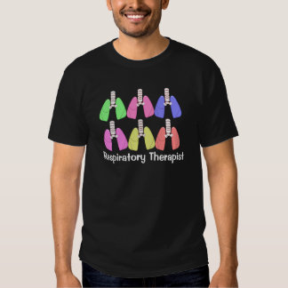 Lungs Multi Colored--Respiratory Therapist Design Shirt
