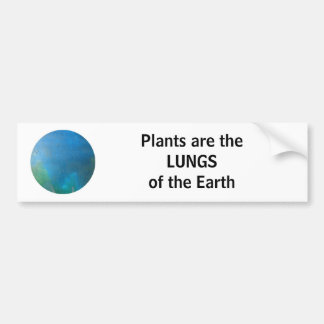 LUNGS of the earth - bumper sticker