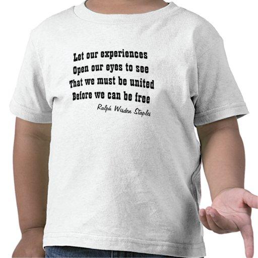 L'unité apporte la liberté t-shirts