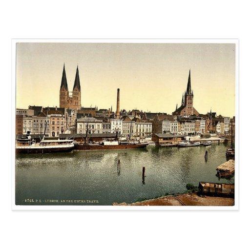 L'Unter Trave, près de Holsenthor, Lübeck, Allemag Cartes Postales