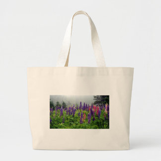 Lupins in full bloom large tote bag