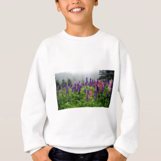 Lupins in full bloom sweatshirt