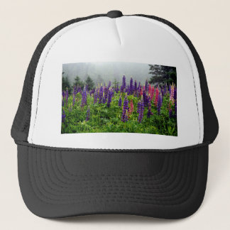 Lupins in full bloom trucker hat