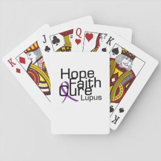 lupus awareness Fight Hope support Gifts Playing Cards