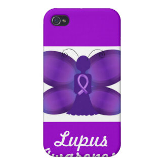 Lupus Awareness purple fairy butterfly Cases For iPhone 4