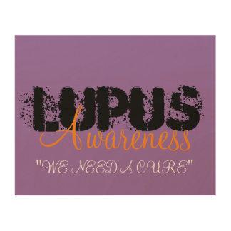 Lupus Awareness Wood Print