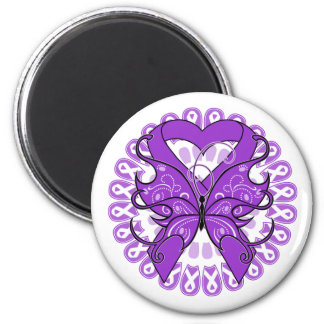 Lupus Butterfly Circle of Ribbons 2 Inch Round Magnet