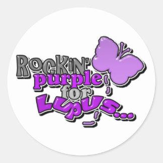 Lupus...Rockin' for a Cure Classic Round Sticker