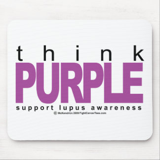 Lupus Think Purple Mouse Pad