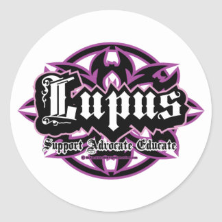 Lupus Tribal Classic Round Sticker