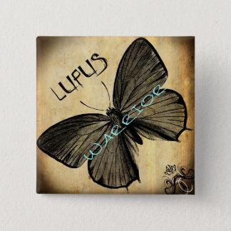 lupus warrior 2 inch square button