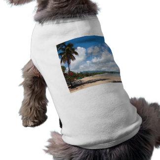 Luquillo Beach Puerto Rico Doggie Tshirt