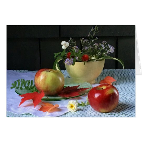 """LuRay Yellow Bowl & Apples""  FARMphemera Card"