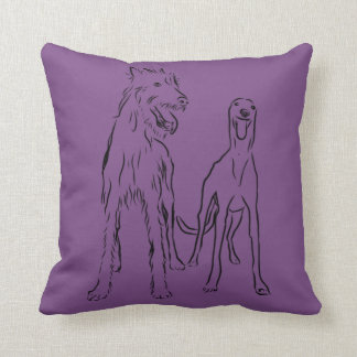 Lurcher and Co Throw Pillow