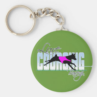 Lure Coursing Basenji Basic Round Button Keychain
