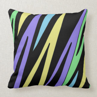 Lurid Lightning ZigZag Design Throw Pillow