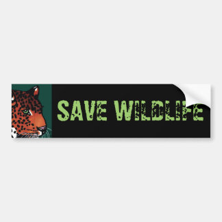 Lurking Jaguar, Save Wildlife Bumper Sticker
