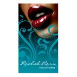 Luscious Glossy Lips Curliques | ocean blue Business Card
