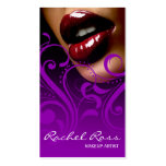 Luscious Glossy Lips Curliques | purple Business Card