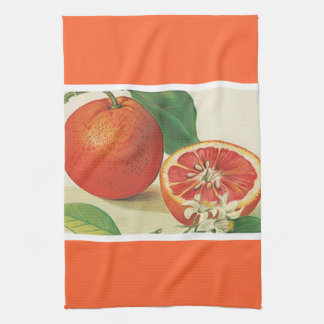 Luscious grapefruit kitchen towel