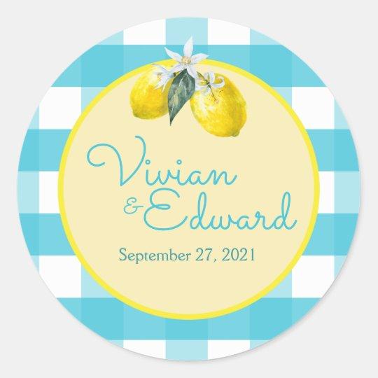 Luscious Lemon Custom Wedding Stickers