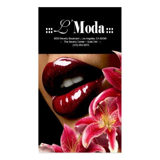 Luscious Lips Beauty Salon & Day Spa Business Card