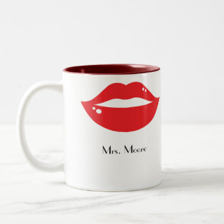 Luscious Red Lips Bride's Mug