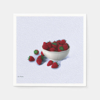 Luscious Strawberries Napkins Paper Napkins